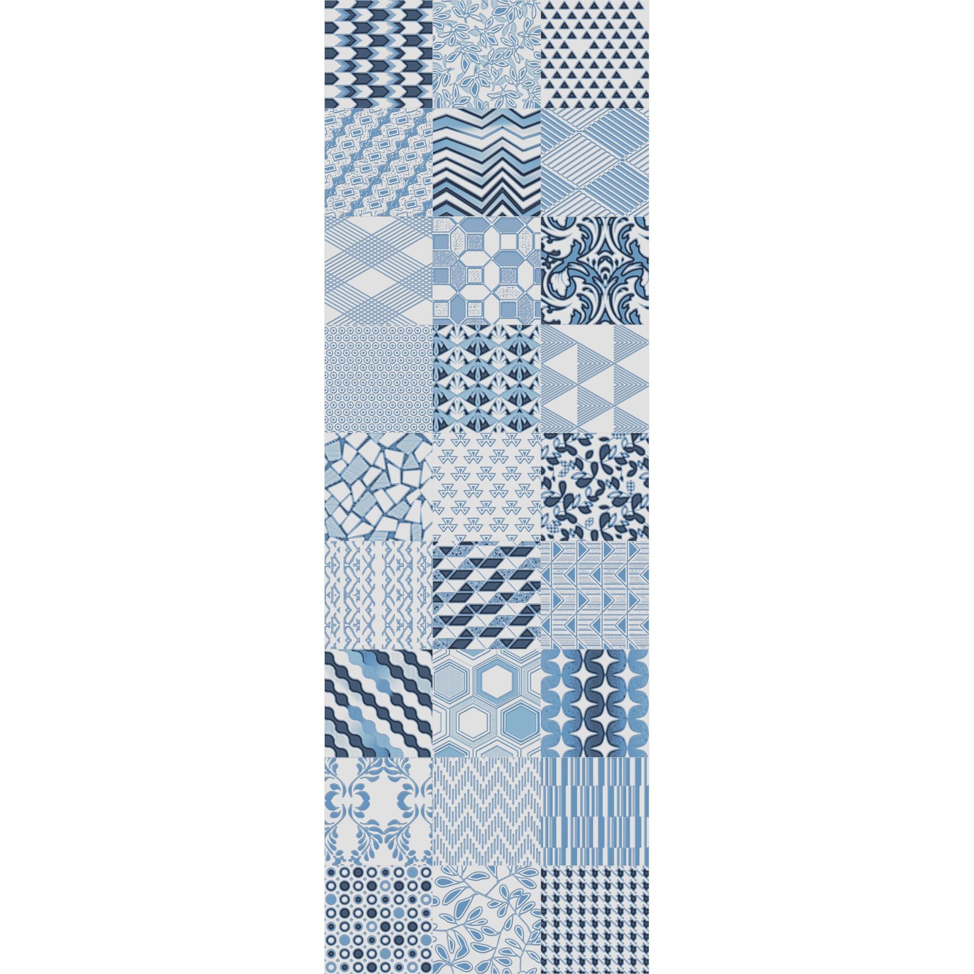 Revestimento Alfama Azul Acetinado Tipo A Retificado 30x90cm 108m Azul - Incepa