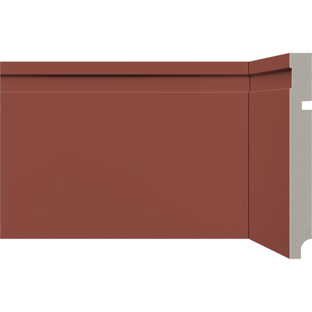 Rodape Alizares em Poliestireno 15cm Vermelho - Santa Luzia