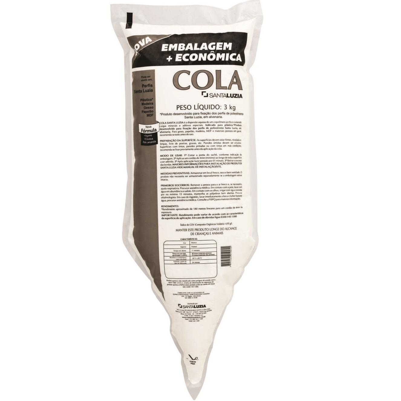 Cola Multiuso Refil 3kg -Santa Luzia