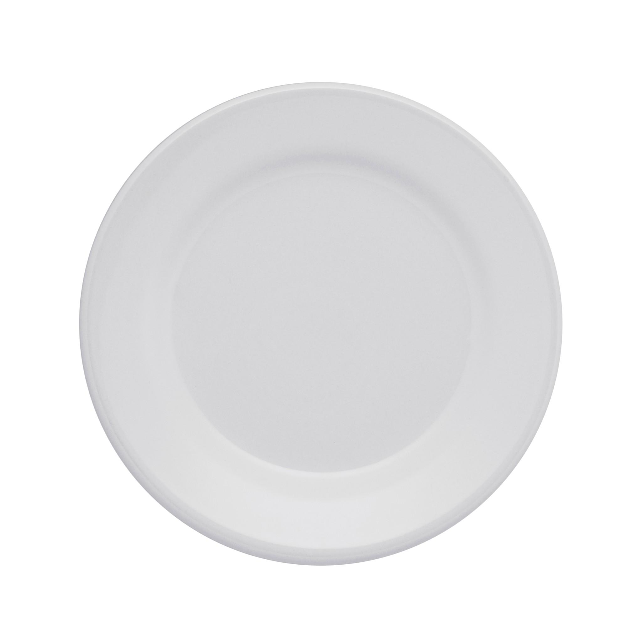Prato Raso Redondo em Ceramica Vitramik Branco 26cm - Oxford