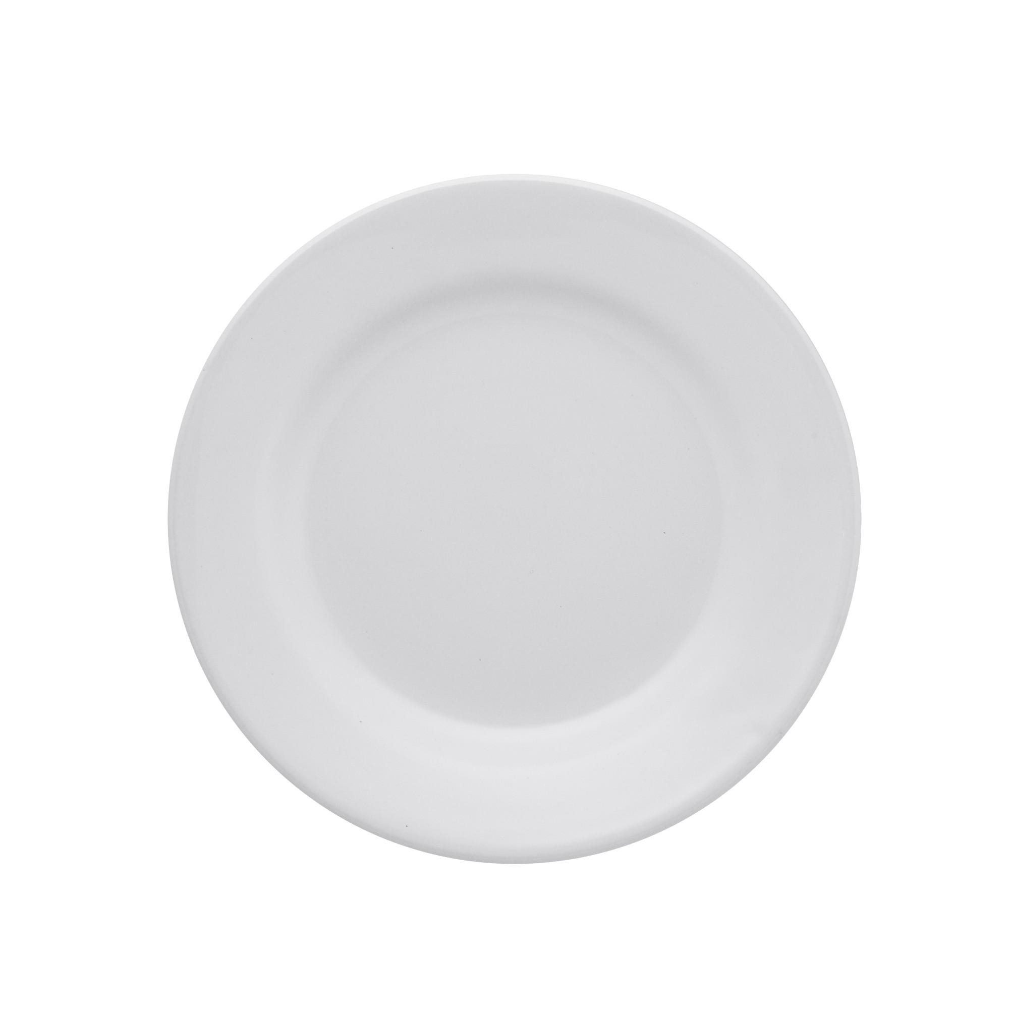 Prato de Sobremesa Redondo em Ceramica Vitramik Branco 19cm - Oxford