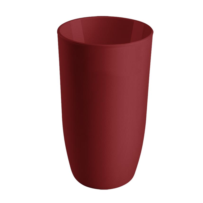Copo Alto Plastico 400ml Vermelho Bold - Coza