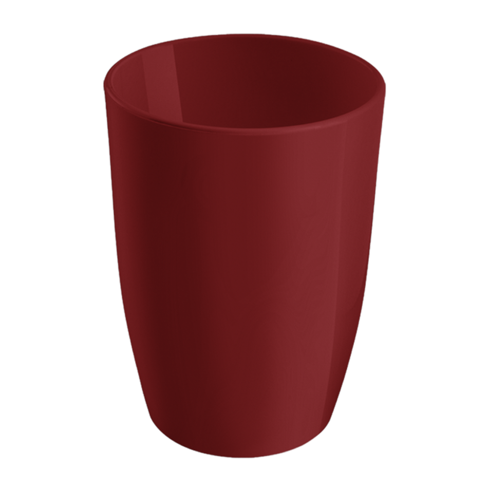 Copo Baixo Plastico 275ml Vermelho Bold - Coza