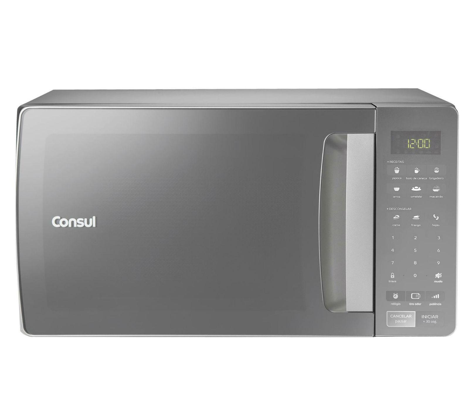 Micro-ondas Consul CMS45ARANA Prata 127V - 32L Painel Touch