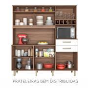 Kit Cozinha Smart 5 Portas e 2 Gavetas 180cm Branco - Nesher