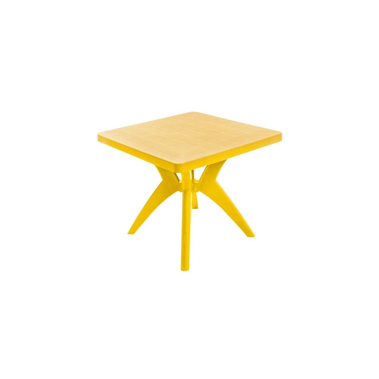 Mesa Quadrada de Plastico Nature Amarela - Forte Plastico