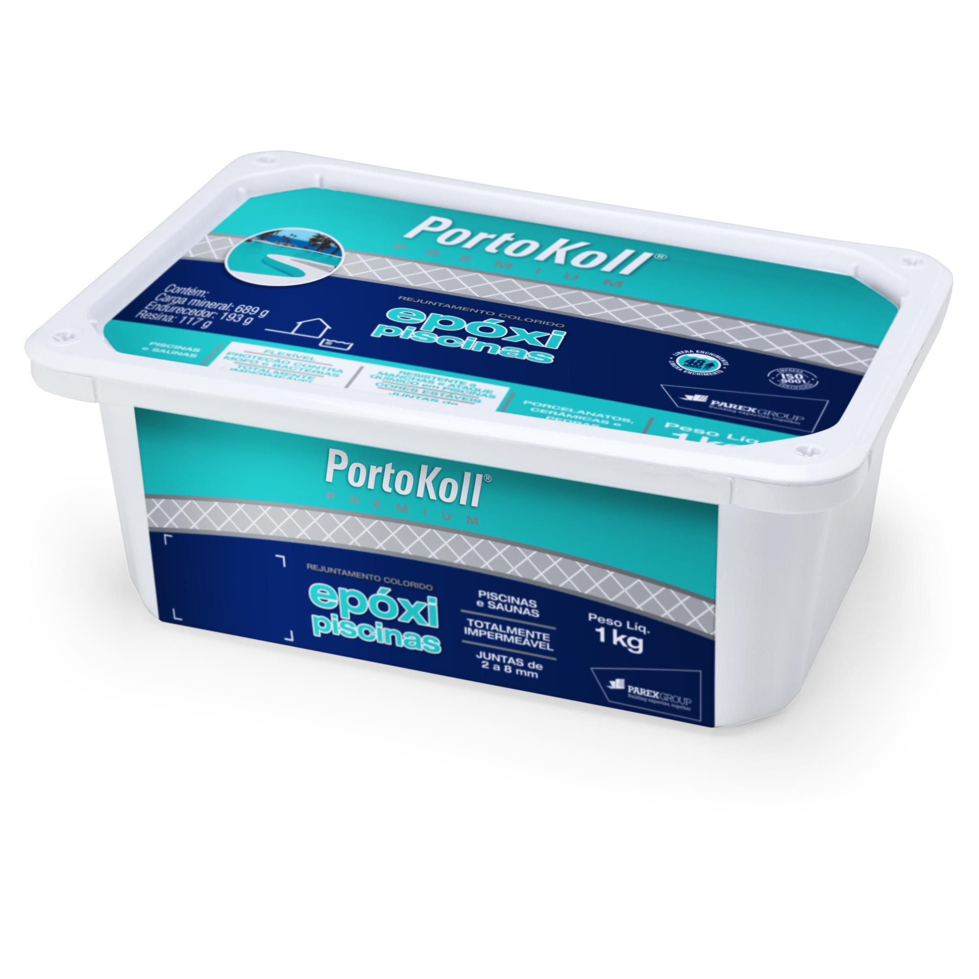 Rejunte Epoxi Piscina Branco Caixa 1kg - PortoKoll