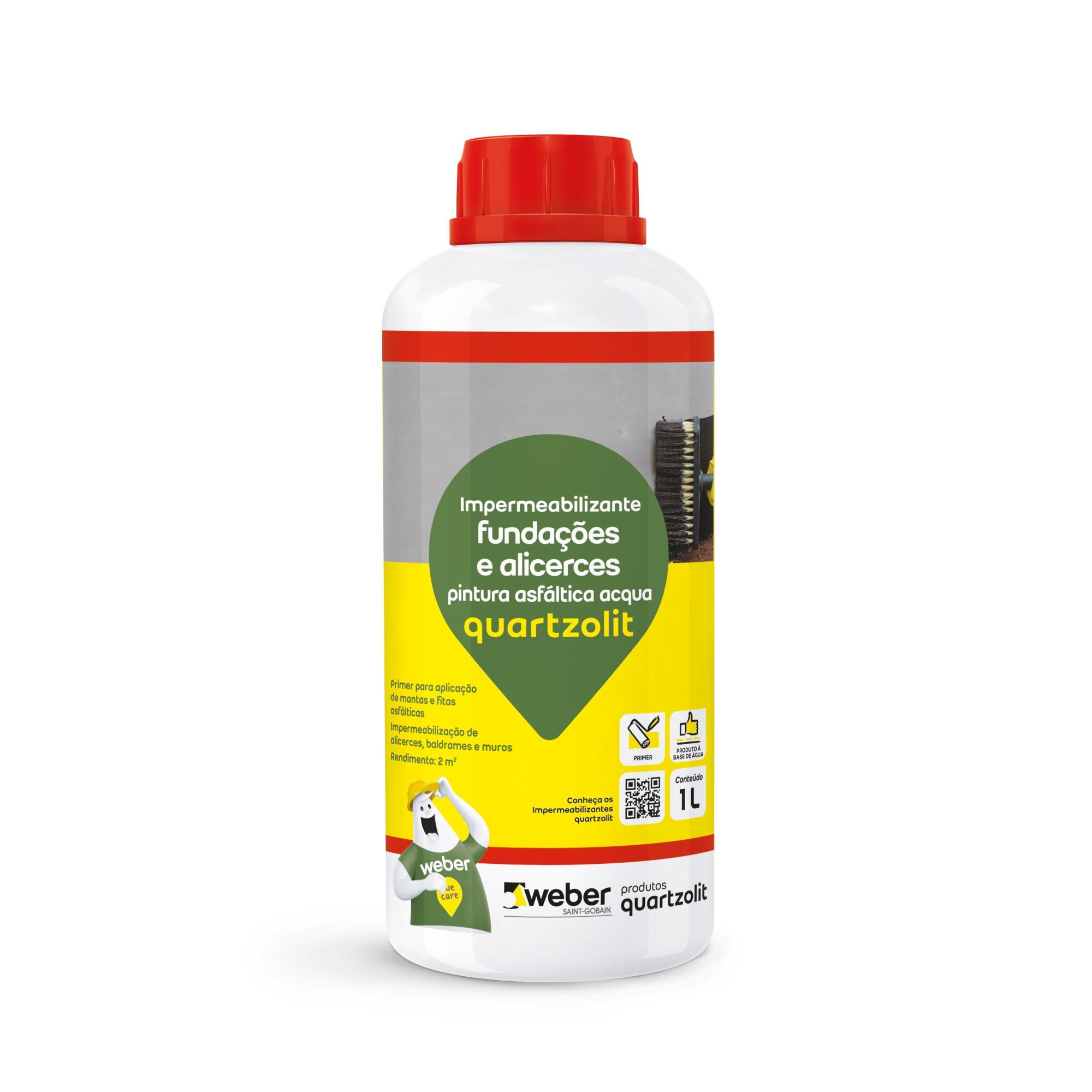 Impermeabilizante para Fundacoes e Alicerces Pintura Asfaltica Acqua 10 L - Quartzolit