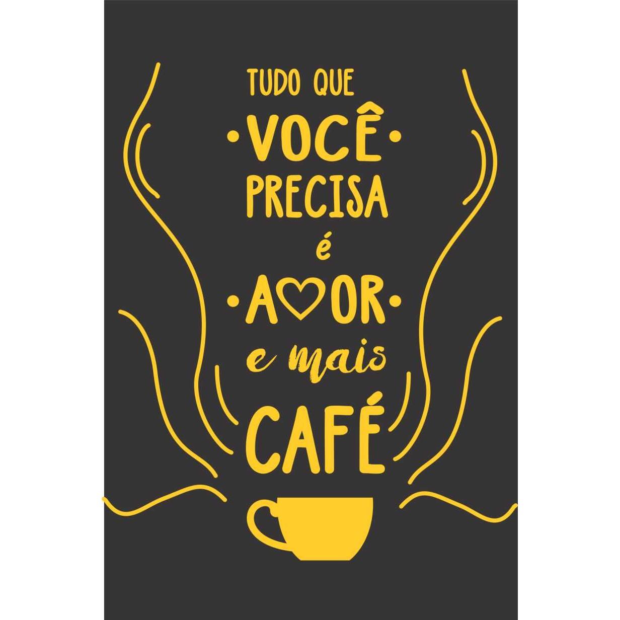 Placa Decorativa em MDF 30x20cm Cafe 67993 - Kapos