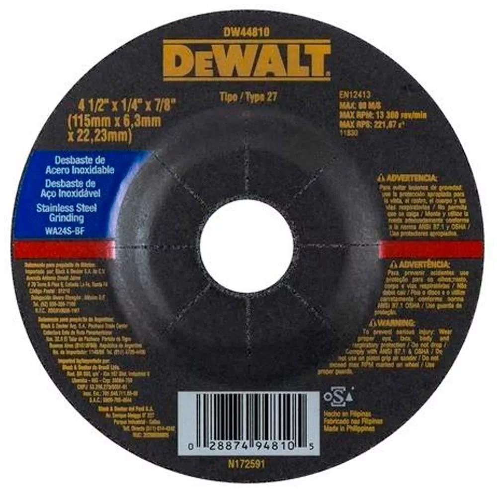 Disco de Desbaste Metal e Aco Inox 412x14x78 180x63x2223mm - DeWalt