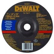 "Disco de Desbaste Metal e Aço Inox 7""x1/4""x7/8"" (180x6,3x22,23mm) - DeWalt"