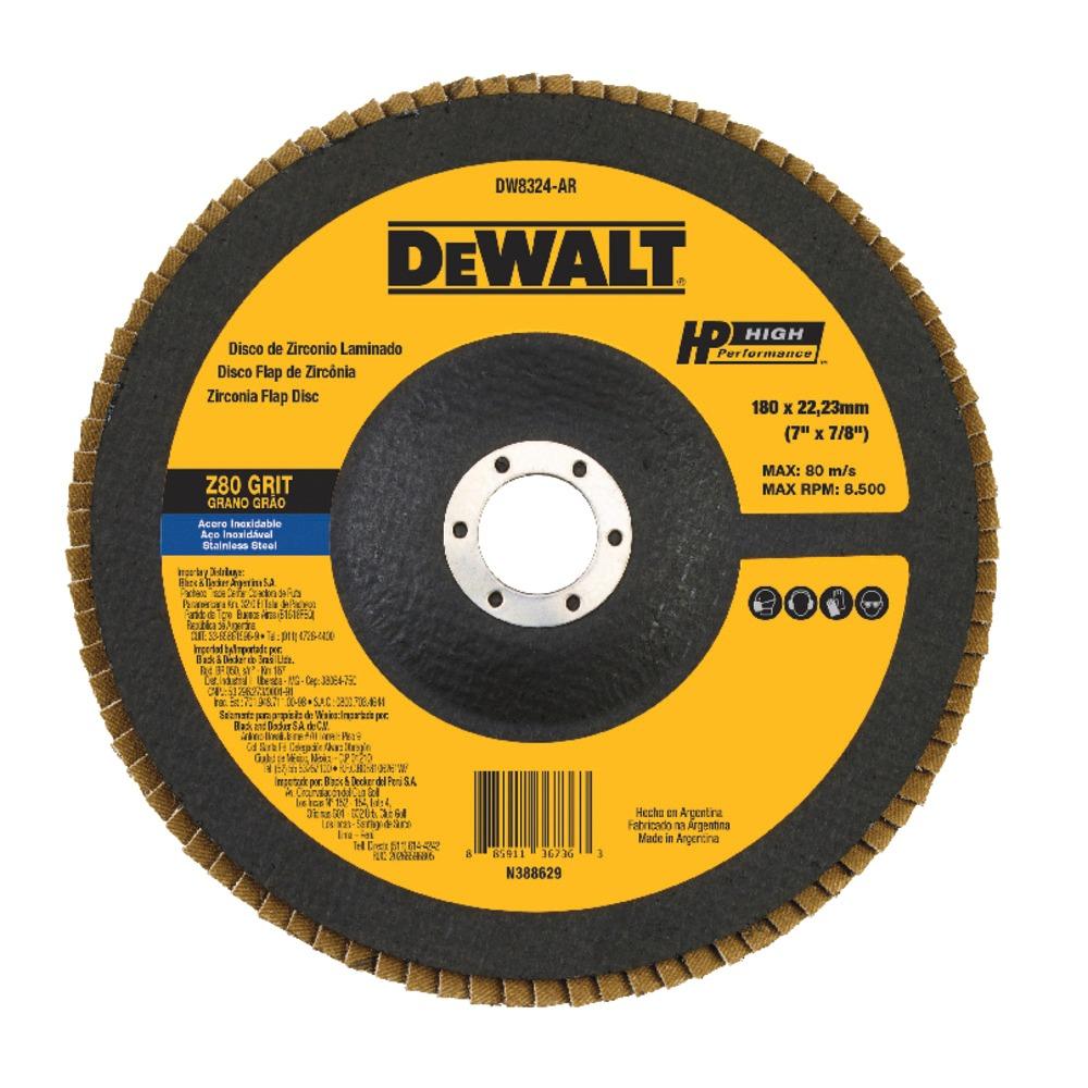 Disco de Desbaste Flap Fibra 7x78 180x2223mm Z80 - DeWalt