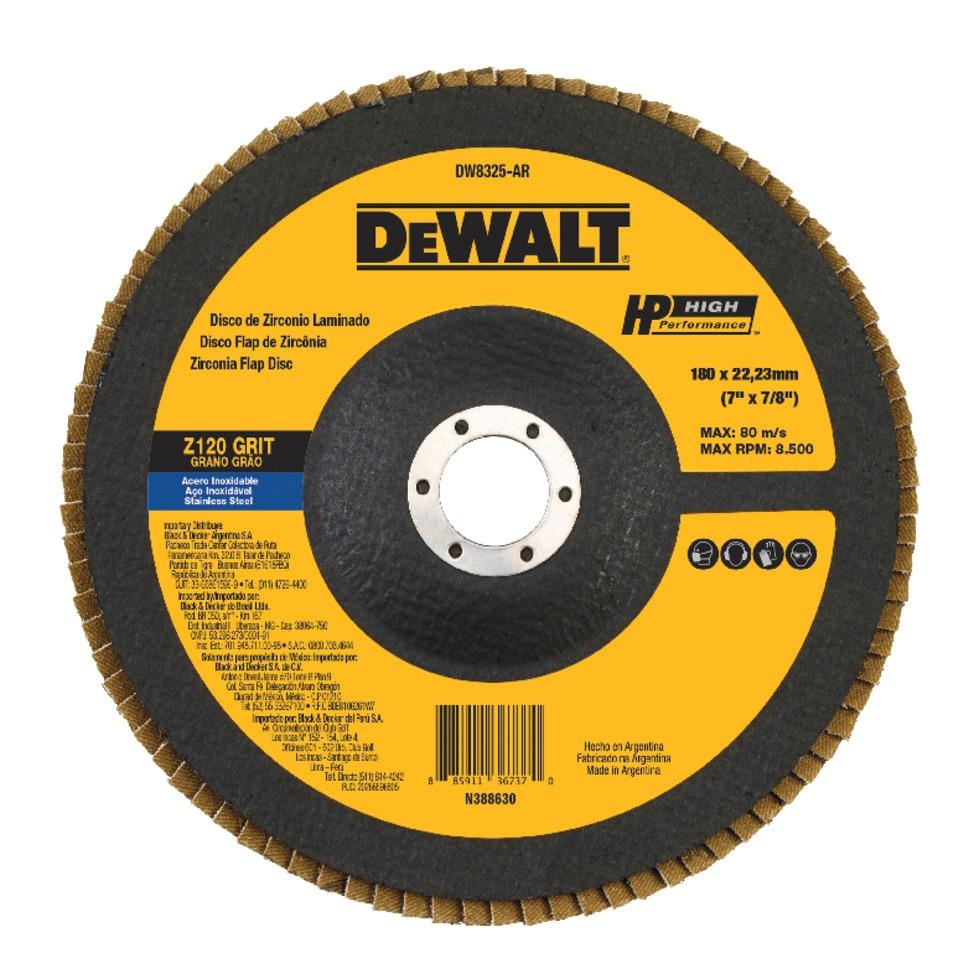 Disco de Desbaste Flap Fibra 7x78 180x2223mm Z120 - DeWalt