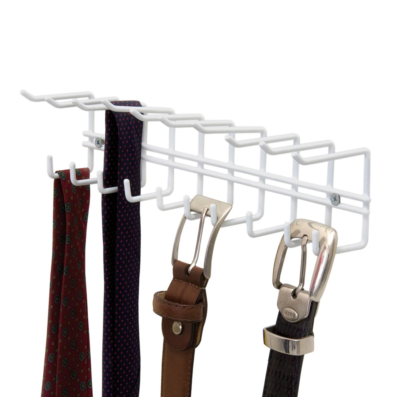 Cabide para Gravata em Aco Termoplastico 14cm Branco - Metaltru