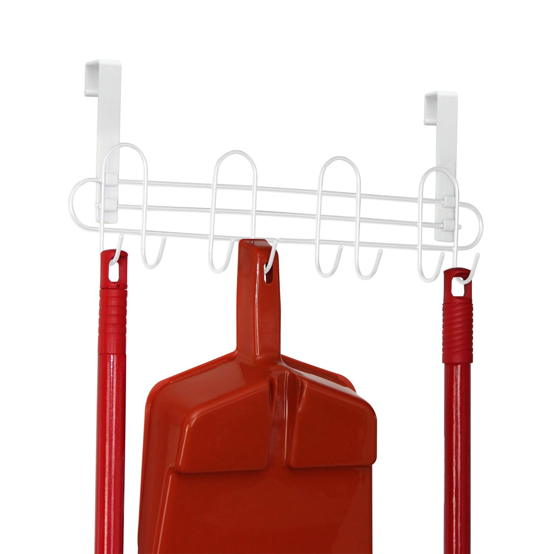 Porta Vassouras com Alca Plastica Branco - 1468-11 - Metaltru