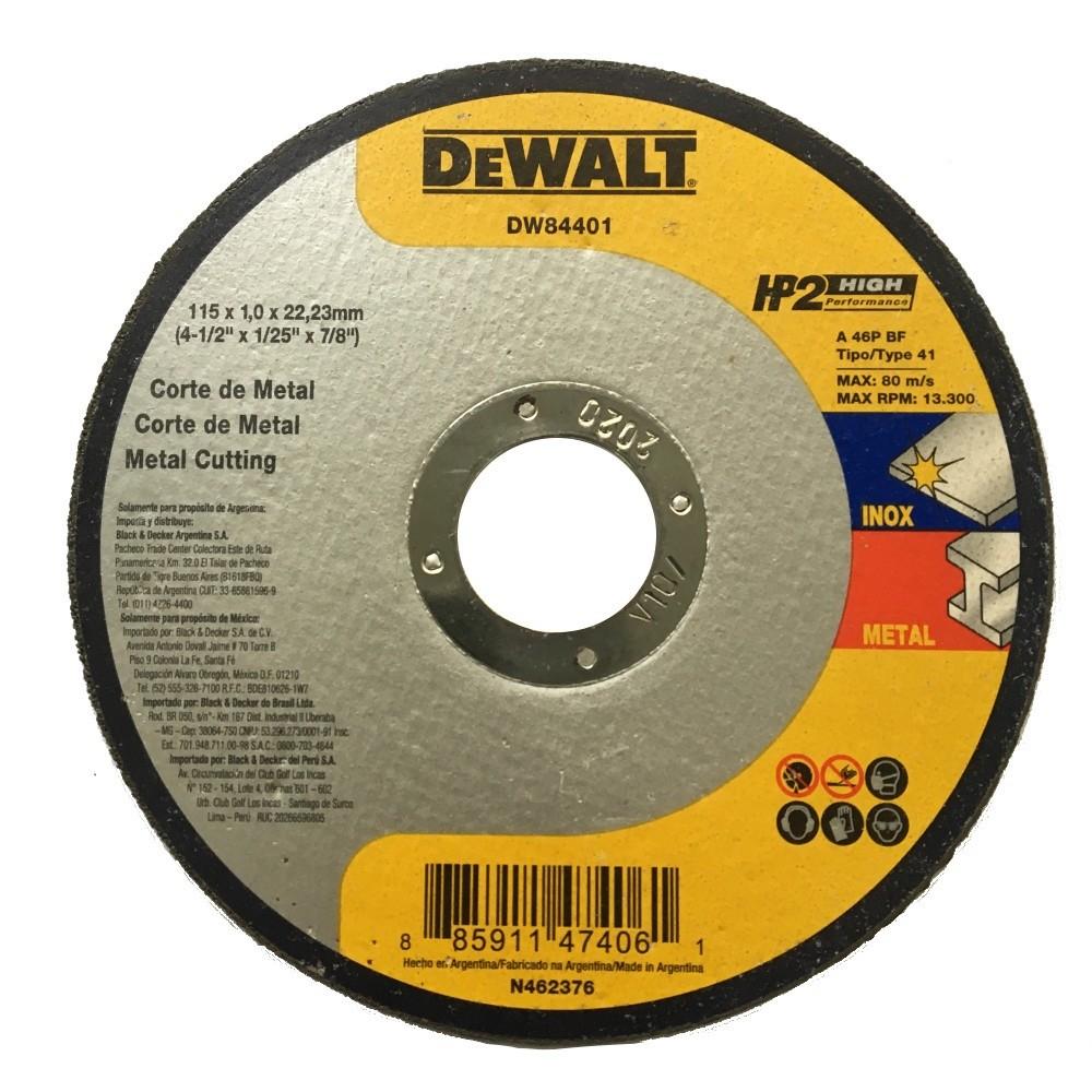 Disco de Corte Metal e Inox 412x1mmx78 115x10x2223mm - DeWalt