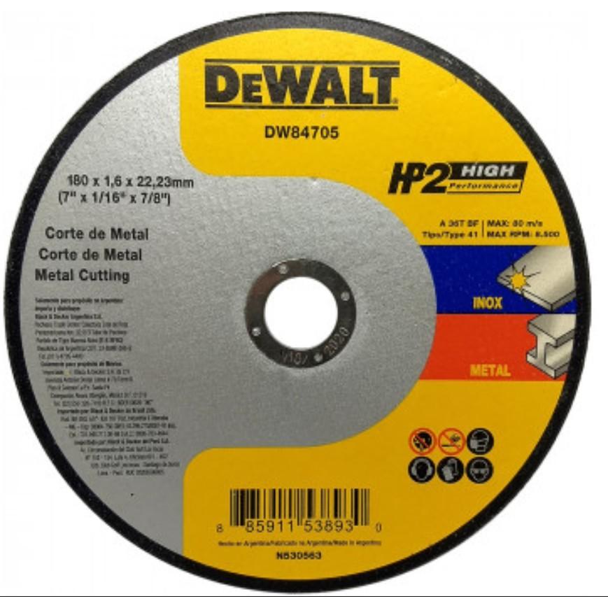 Disco de Corte Metal e Inox 7x116x78 180x16x2223mm - DeWalt