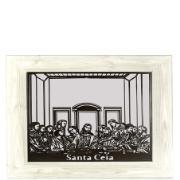 Quadro Decorativo com Vidro 60x90 cm Santa Ceia 294 - Quadros Genaro