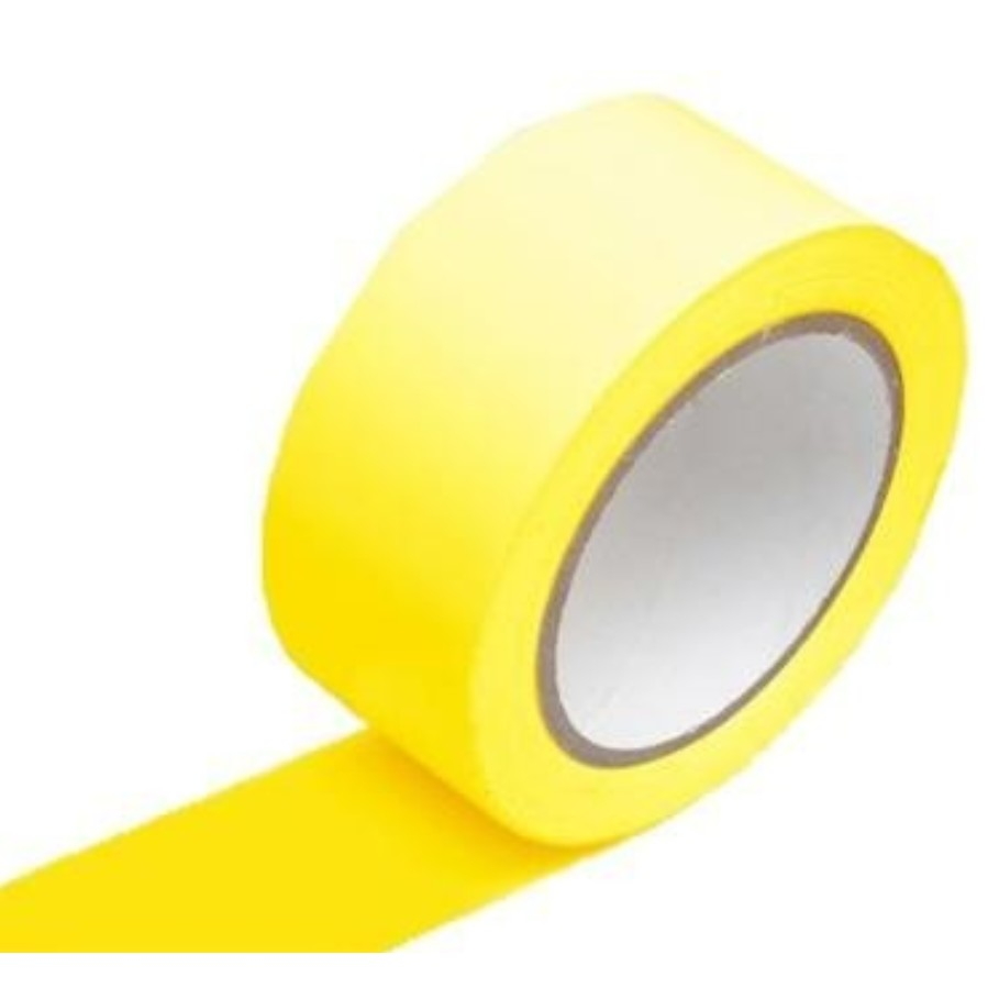 Fita Adesiva Demarcacao Amarelo 48mm x 30m 1 Unidade - Plastcor