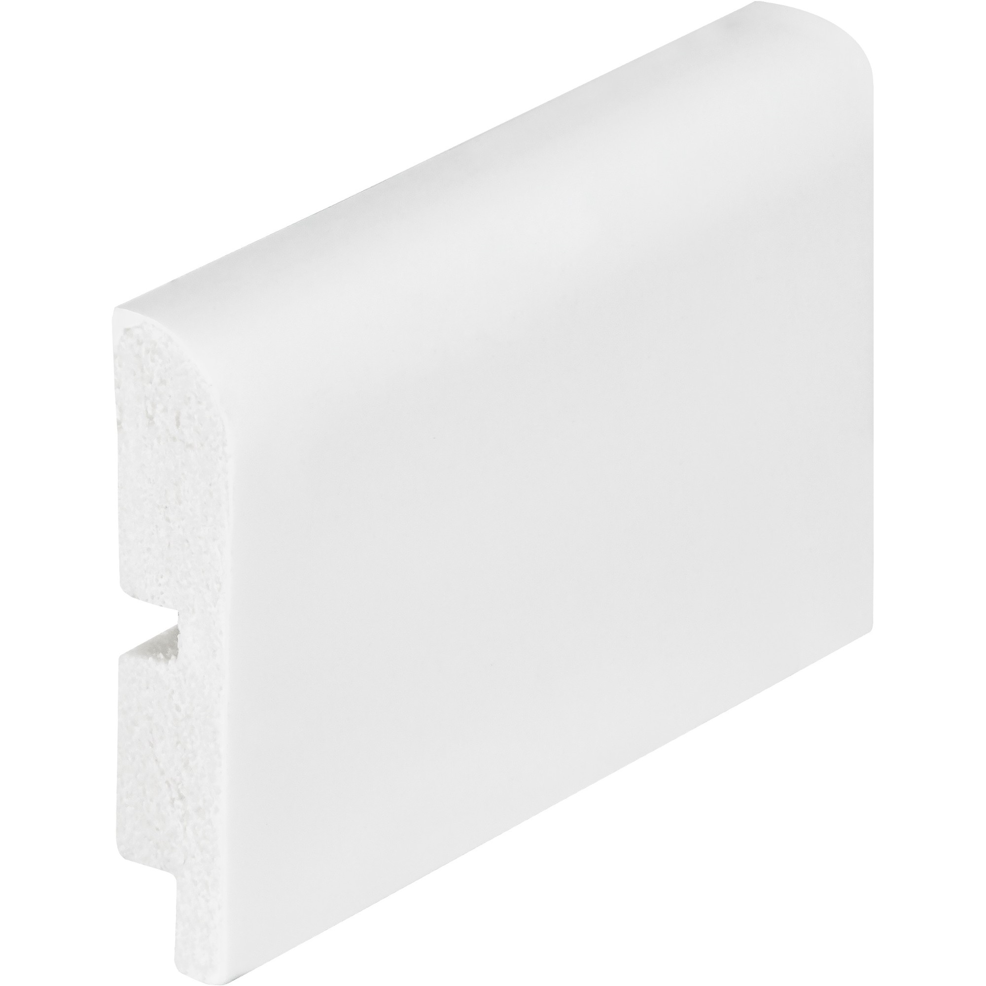 Rodape Branco Liso 7x240cm em Poliestireno - Arquitech
