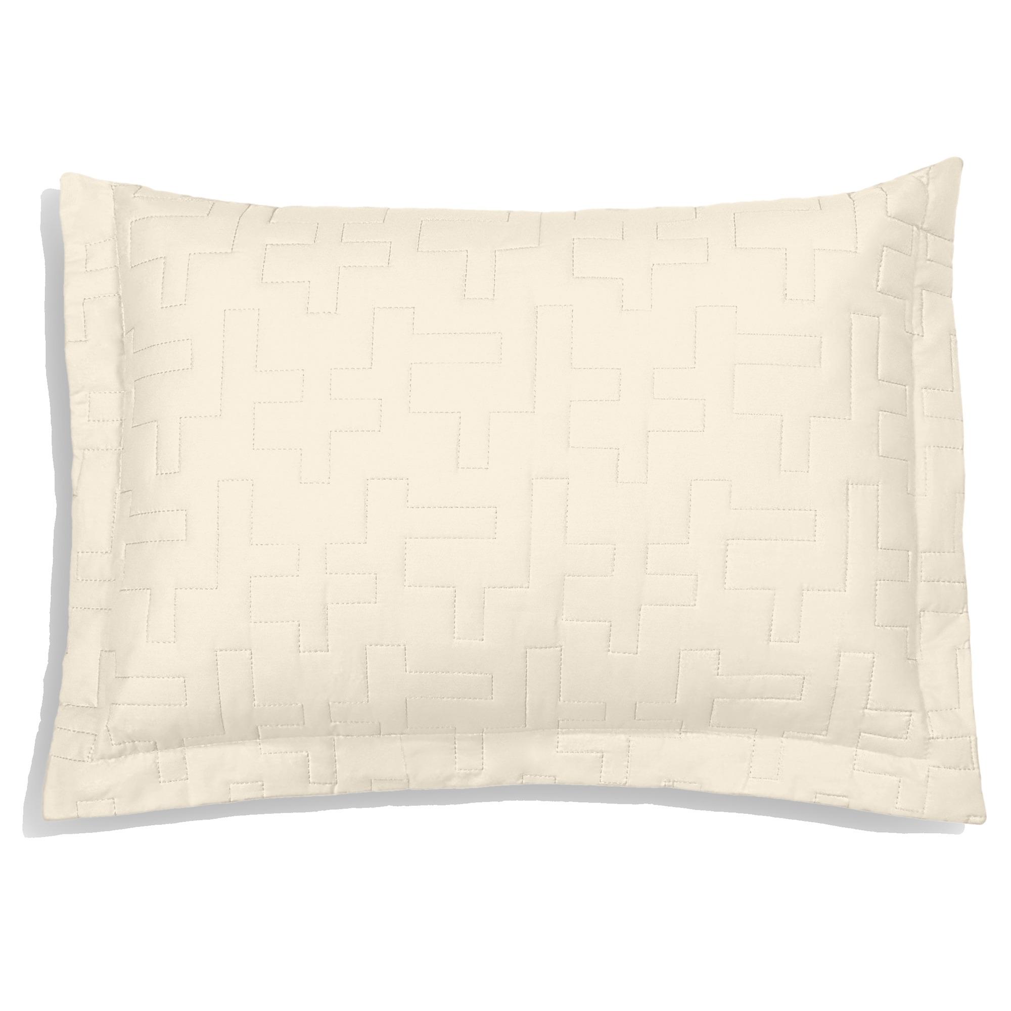 Porta Travesseiro Reffinata Color Perola - Buettner