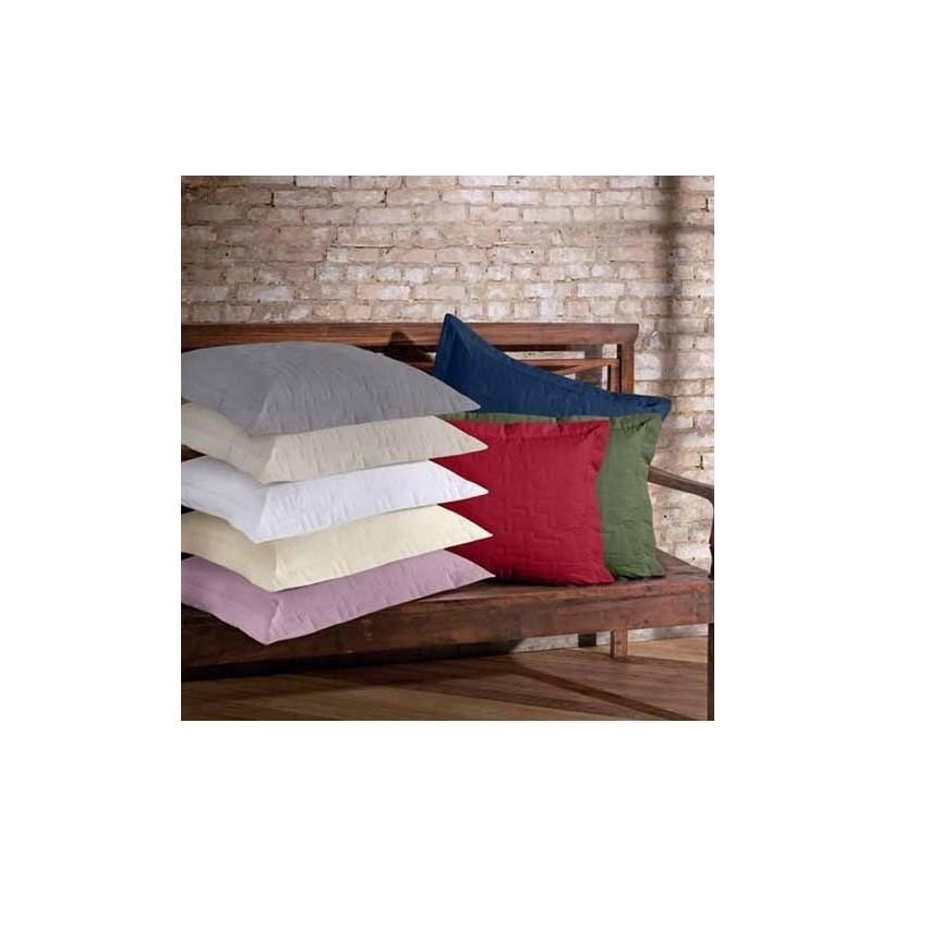 Porta Travesseiro Reffinata Color Vermelho Escuro - Buettner