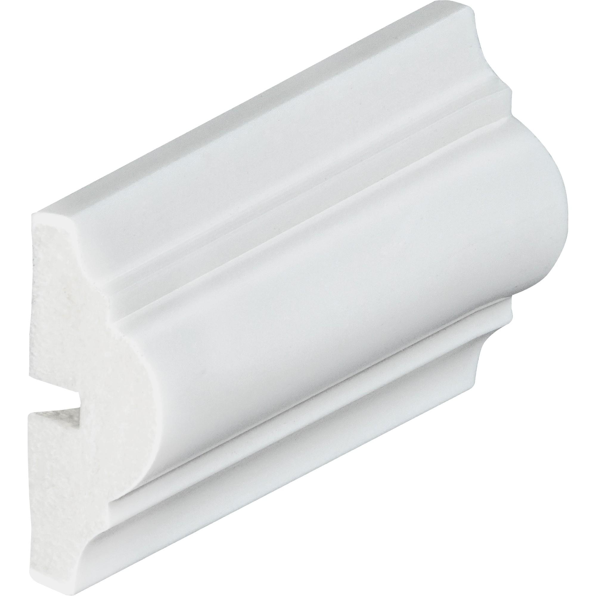 Rodameio 6 x 240 cm Poliestireno Branco - Arquitech