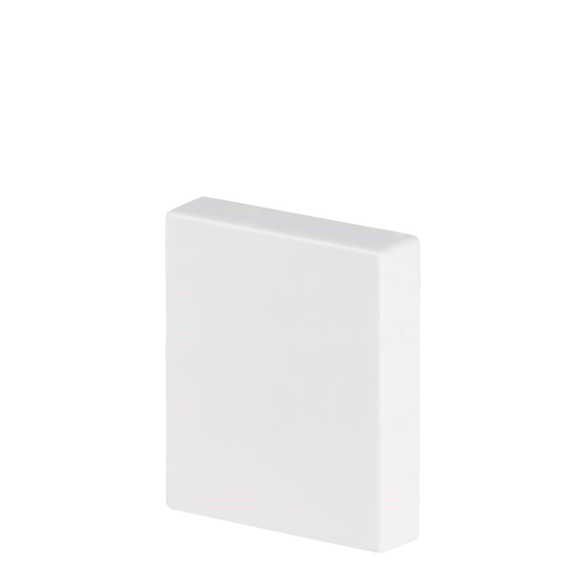 Rodape Socalo 12 x 1700 cm Poliestireno Branco - Arquitech