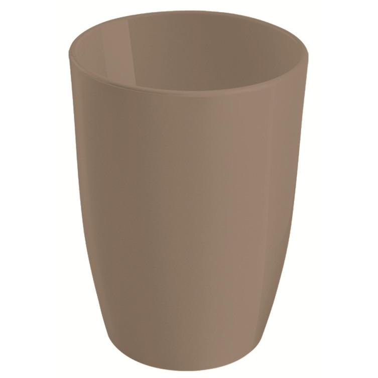 Copo Baixo Plastico 275ml Cinza - Coza