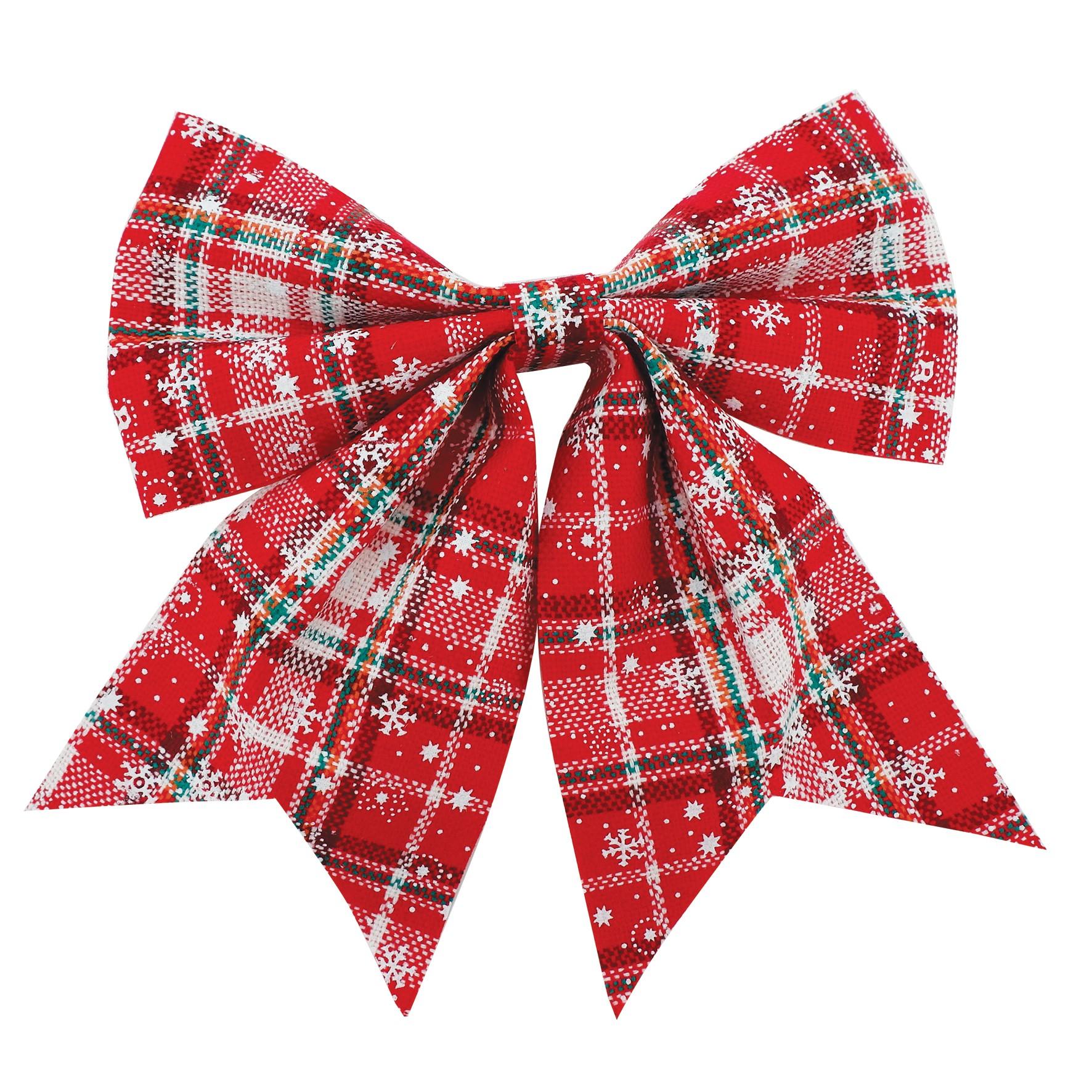 Laco de Natal 22cm Xadrez Vermelho - Magizi
