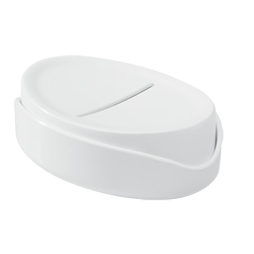 Saboneteira de Bancada Plastico Oval Branco 10440 - Coza