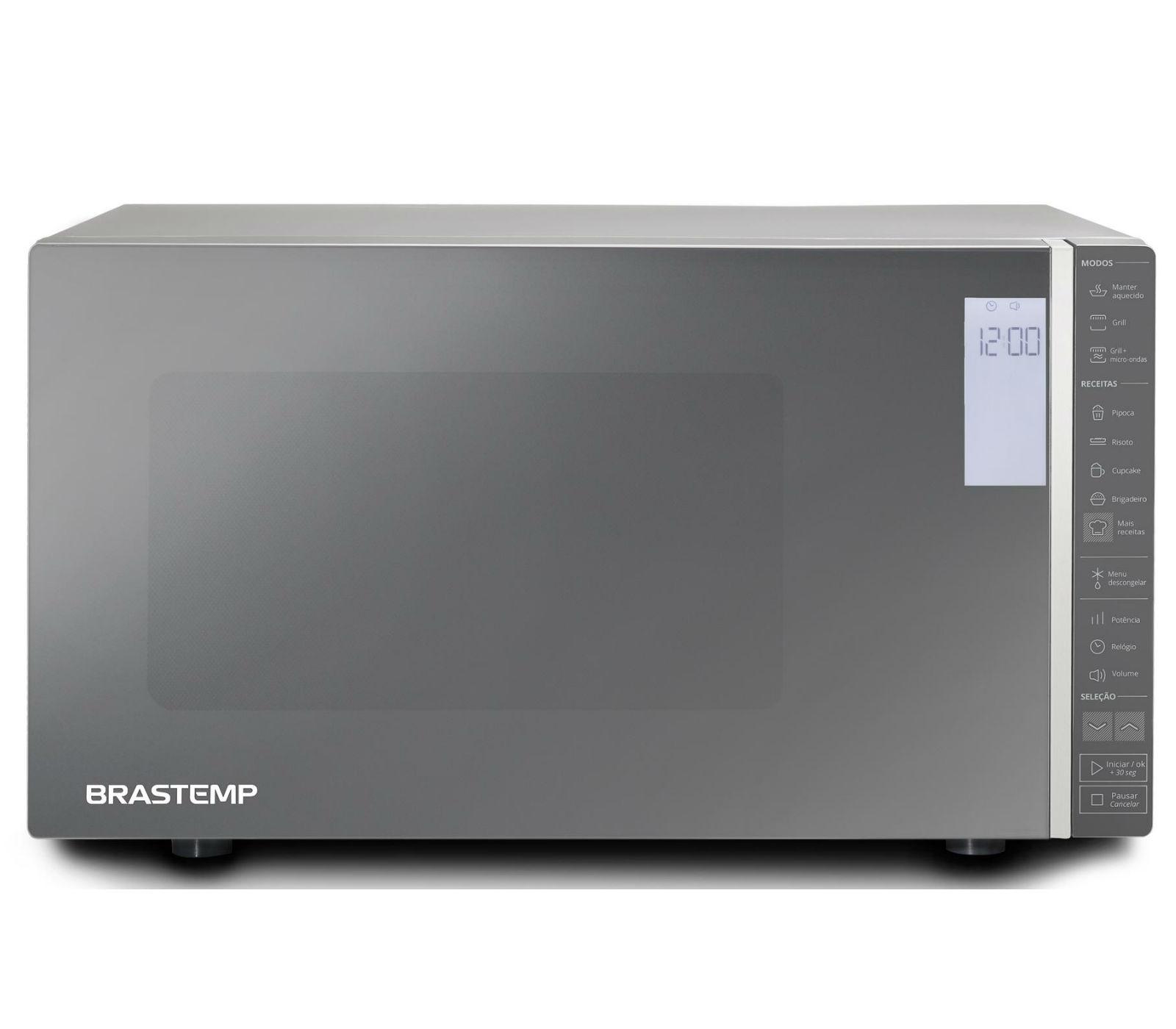Micro-ondas Brastemp BMG45ARANA Prata 127V - 19L Painel Touch Grill