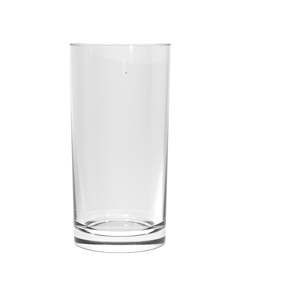 Copo de Agua Long Drink de Vidro 310ml Transparente - Manchester Nadir