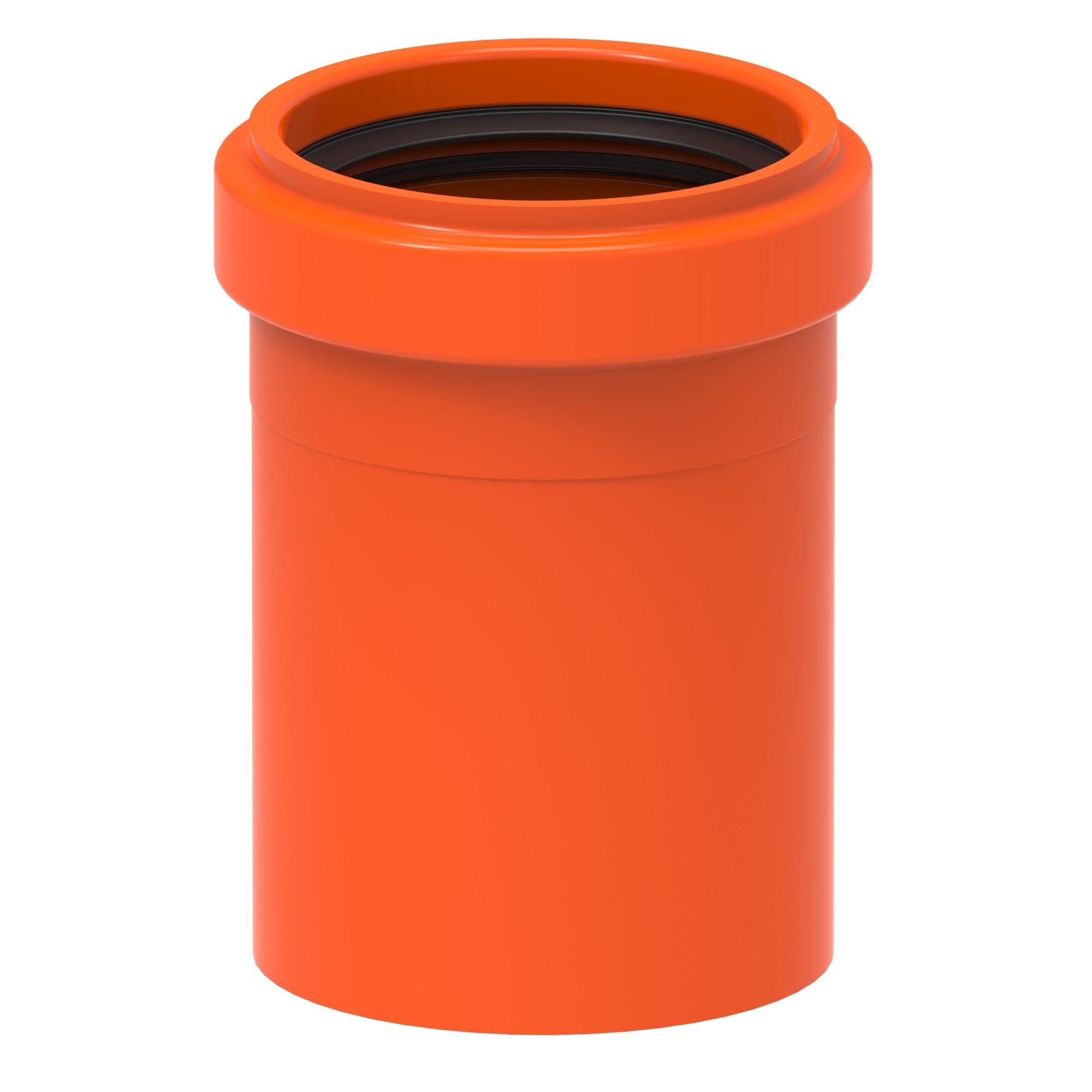 Luva Simples para Esgoto PVC Laranja 75 mm - Tigre