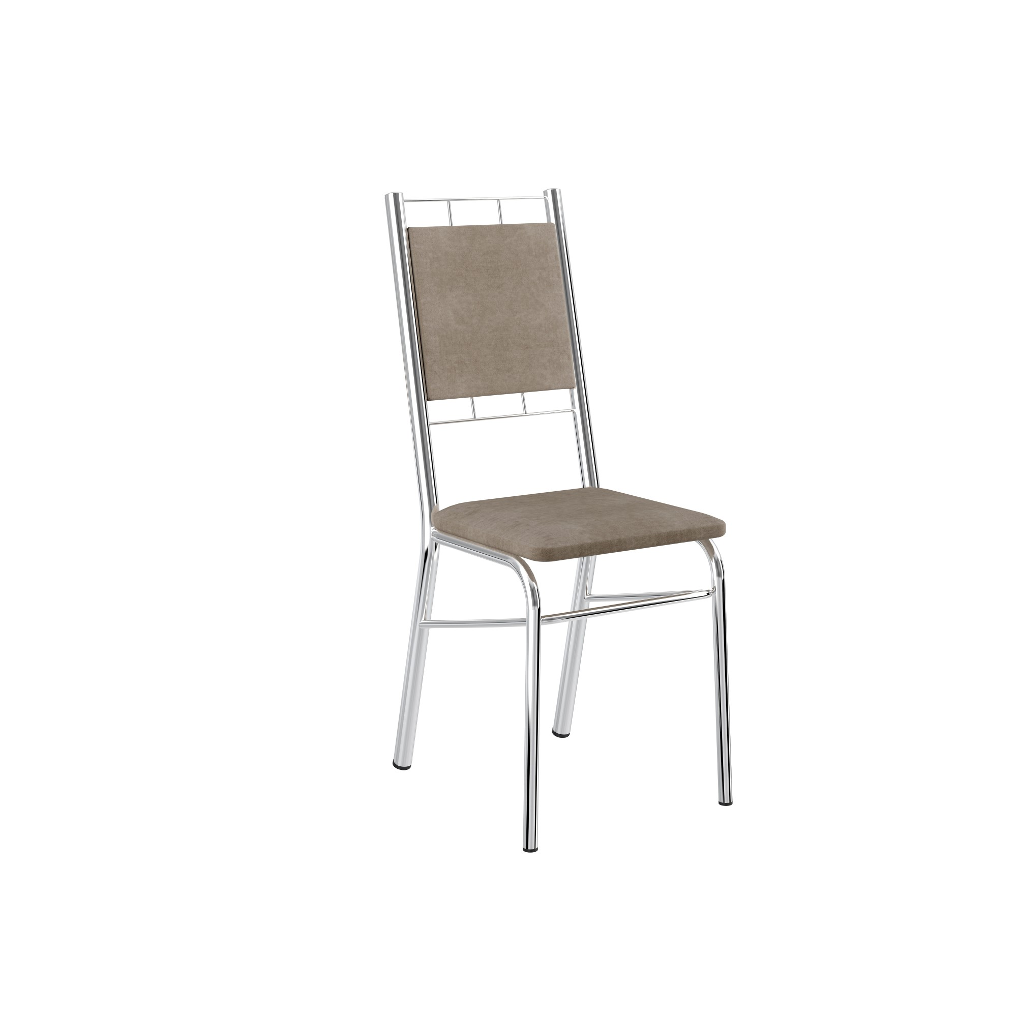 Cadeira Estofada para Sala Corino Camurca - Carraro