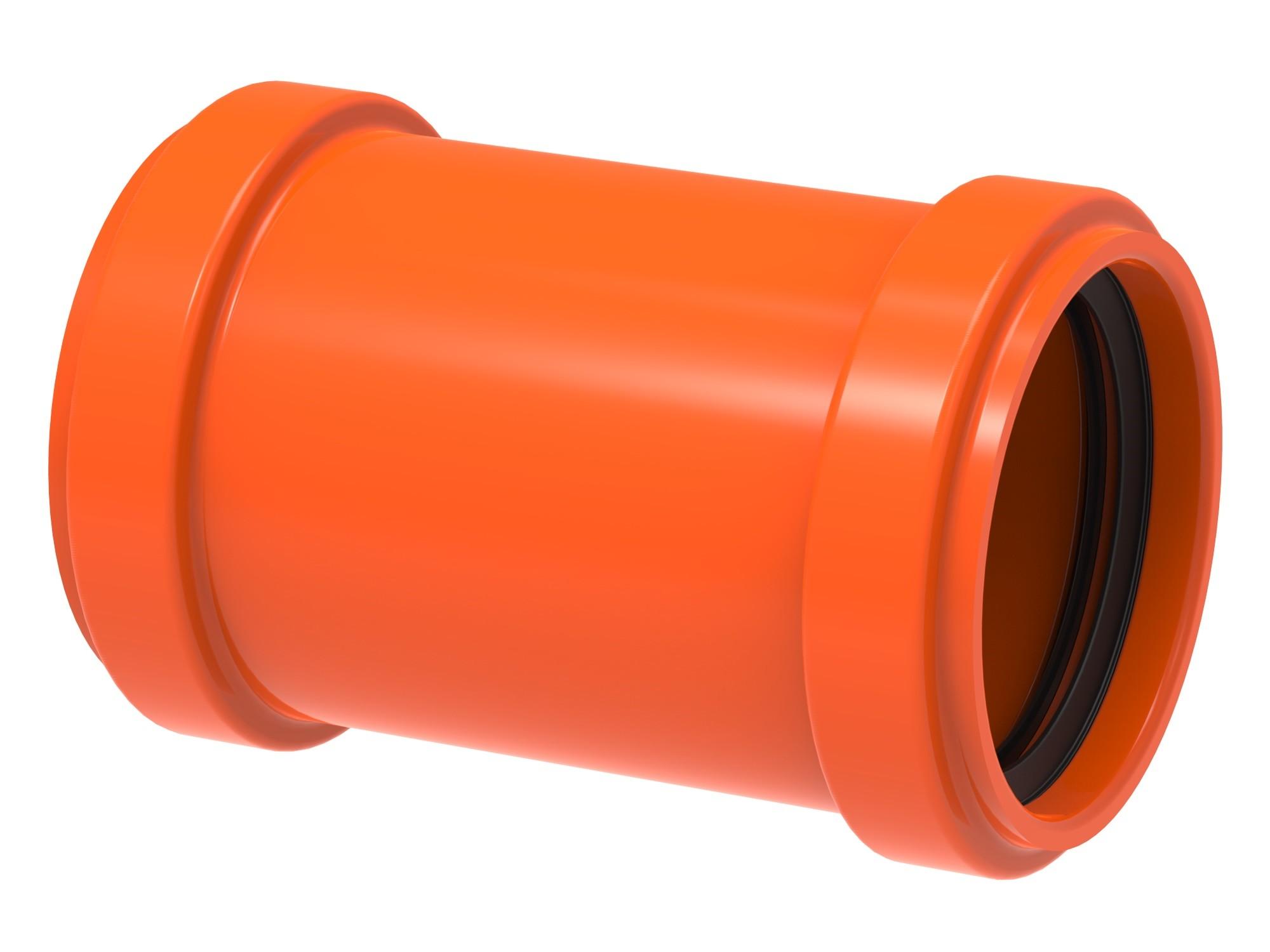 Luva de Correr para Esgoto PVC Laranja 75 mm - Tigre