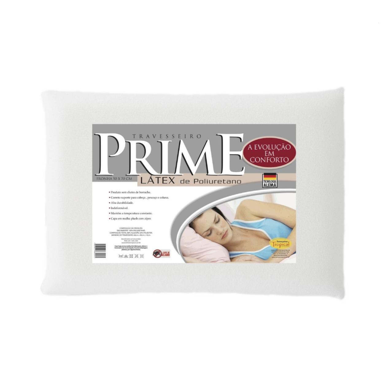 Travesseiro Antibacteria Prime Latex Poliretano 50x70 cm - Tropical