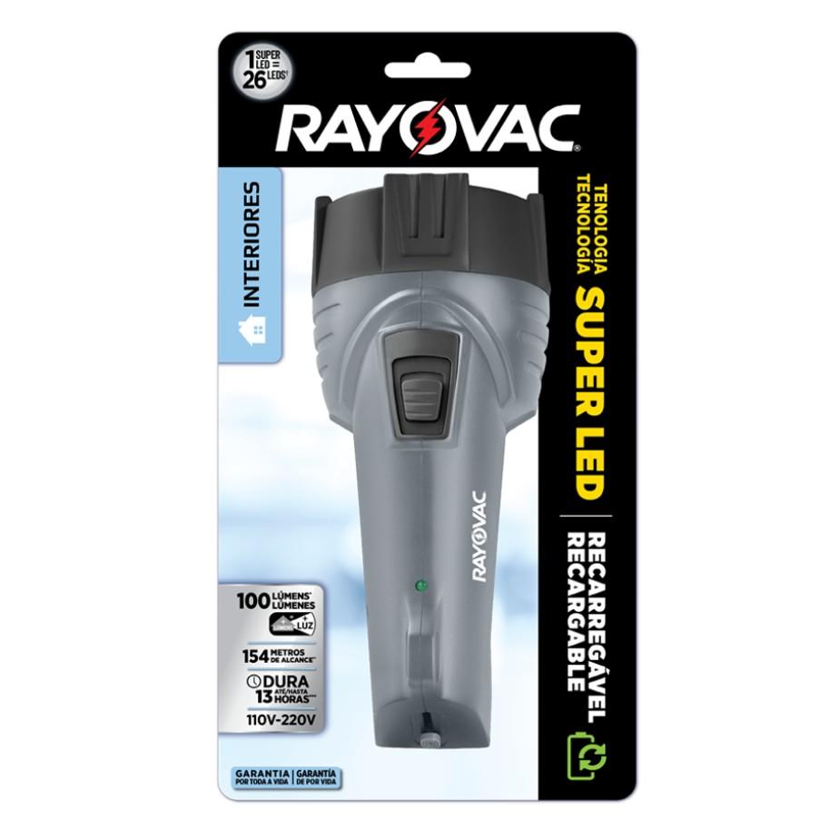 Lanterna Rayovac Recarregavel Super Led Bivolt
