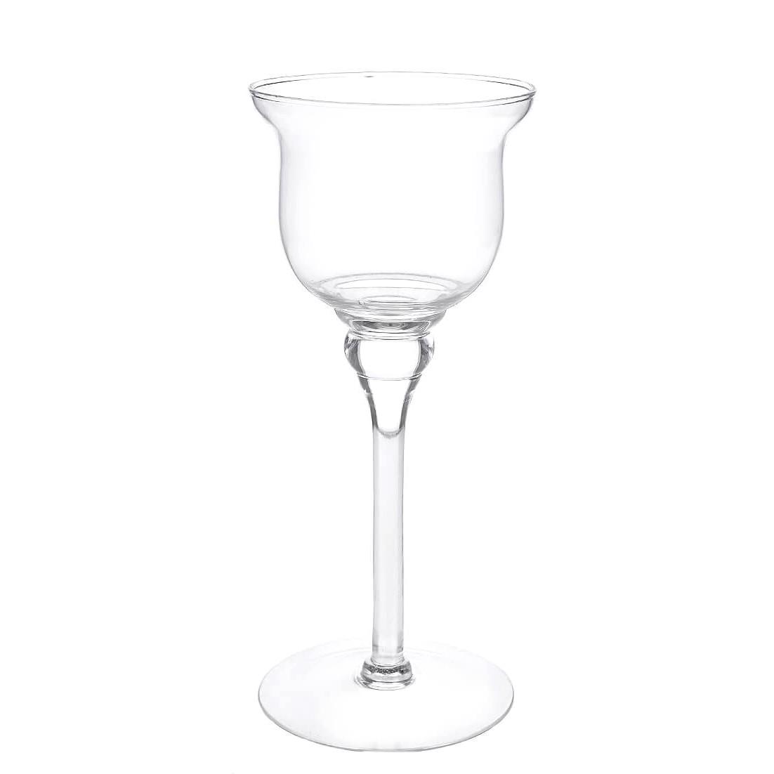 Vaso Decorativo Vidro Taca 30cm Transparente