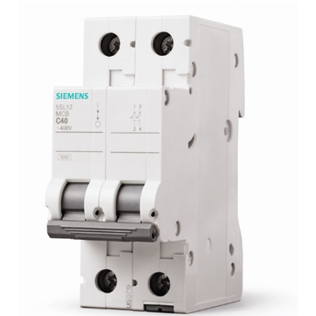 Disjuntor DIN Bipolar 250440 VCA 63A Tipo C - Siemens 5SL12637MB