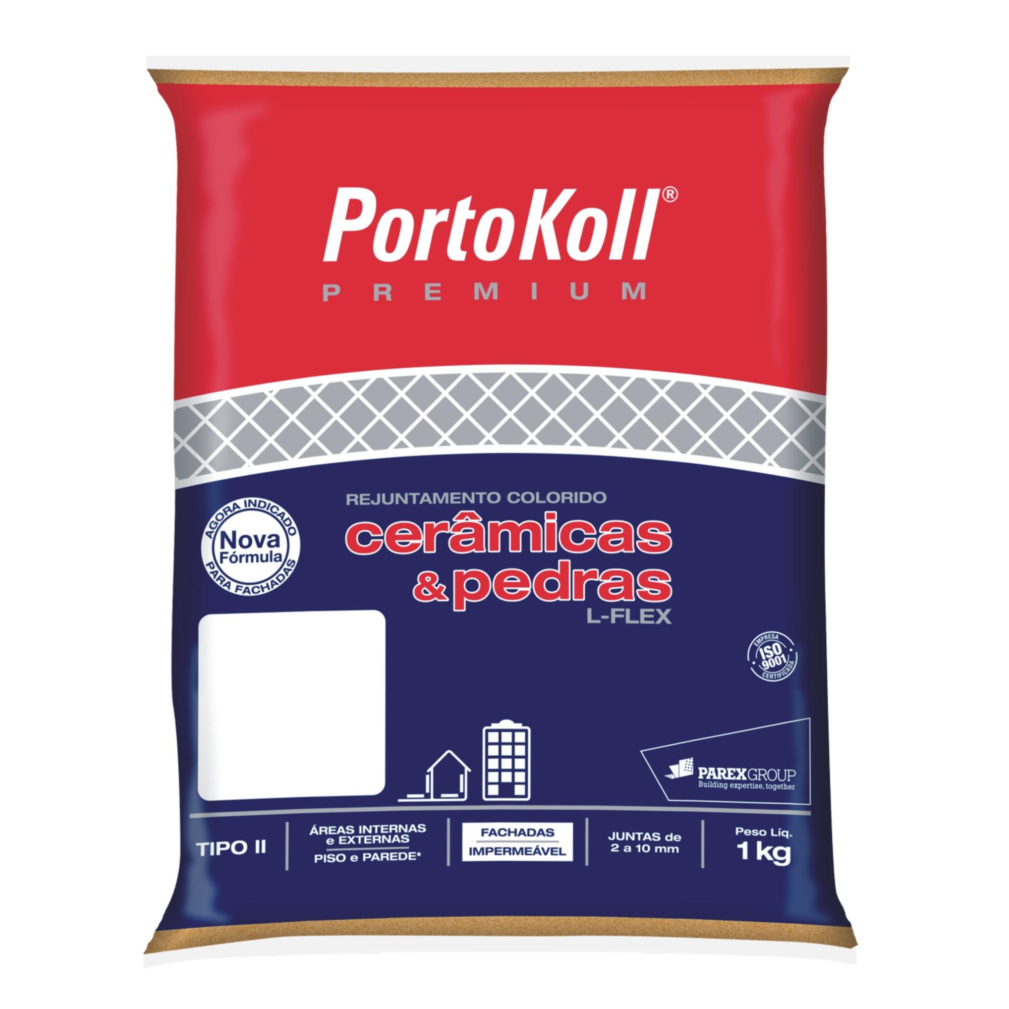 Rejunte L-Flex Cinza Artico Saco1kg - PortoKoll