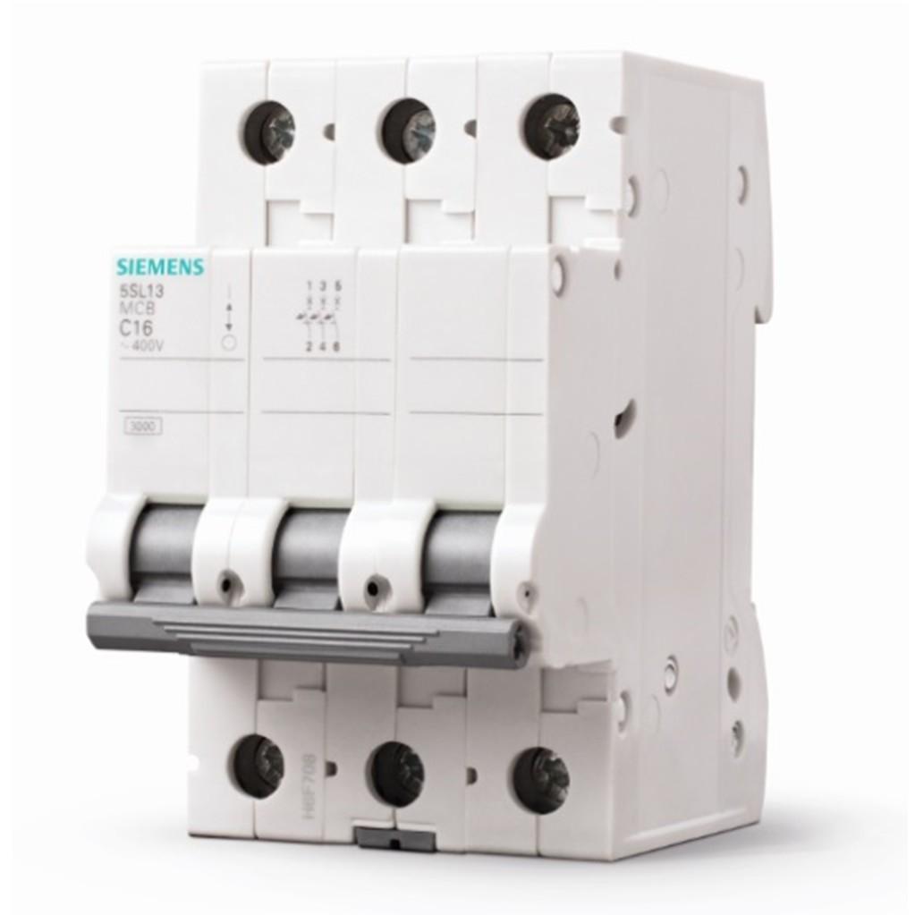 Disjuntor DIN Tripolar 250440 VCA 16A Tipo C - Siemens 5SL13167MB