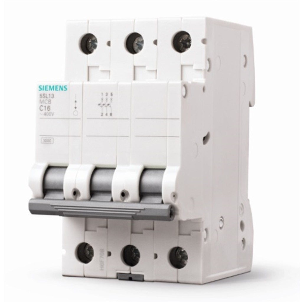 Disjuntor DIN Tripolar 250440 VCA 20A Tipo C - Siemens 5SL13207MB