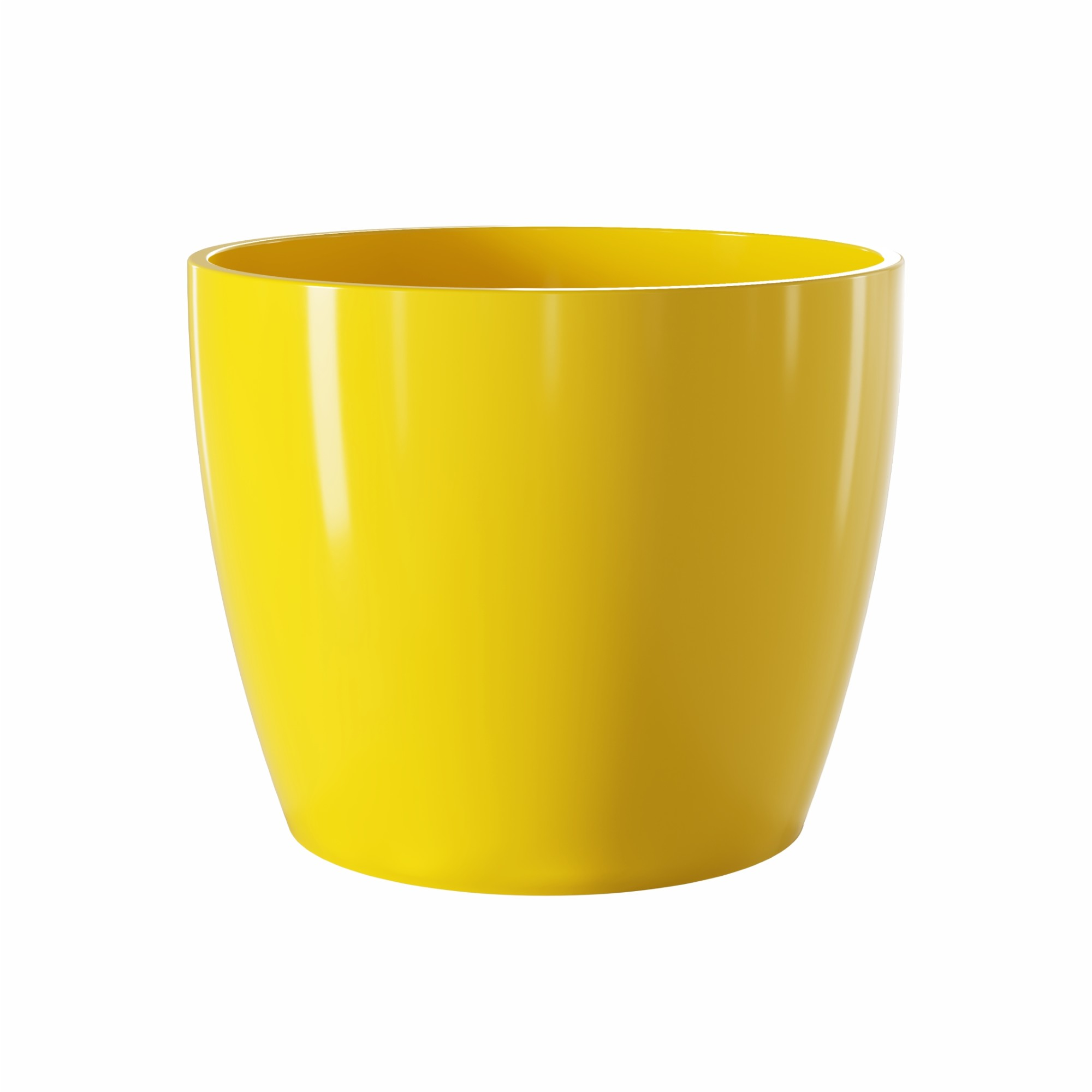 Vaso para Plantas Ceramica 15x17 cm Munique Amarelo - Japi