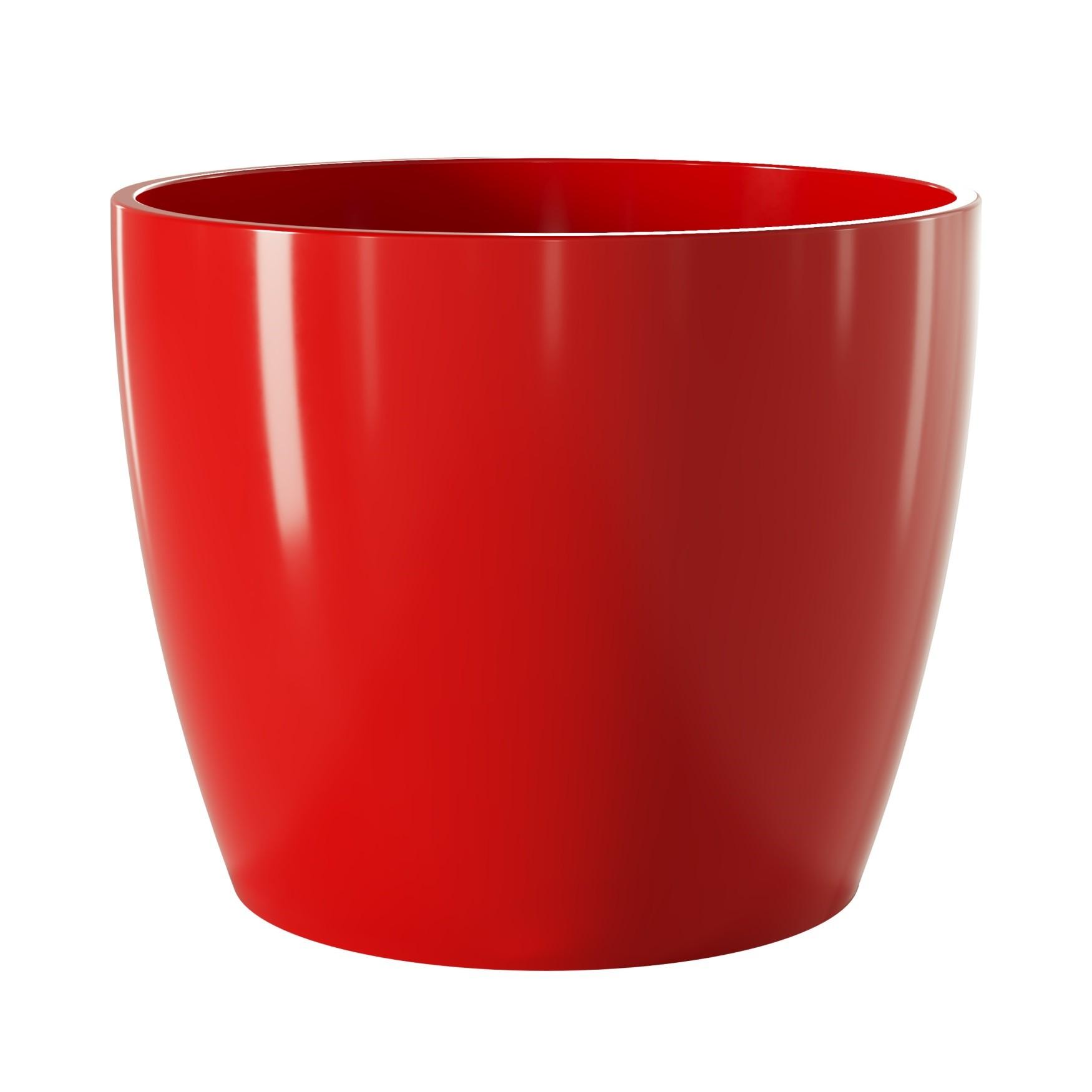Vaso para Plantas Ceramica 15x17 cm Munique Vermelho - Japi