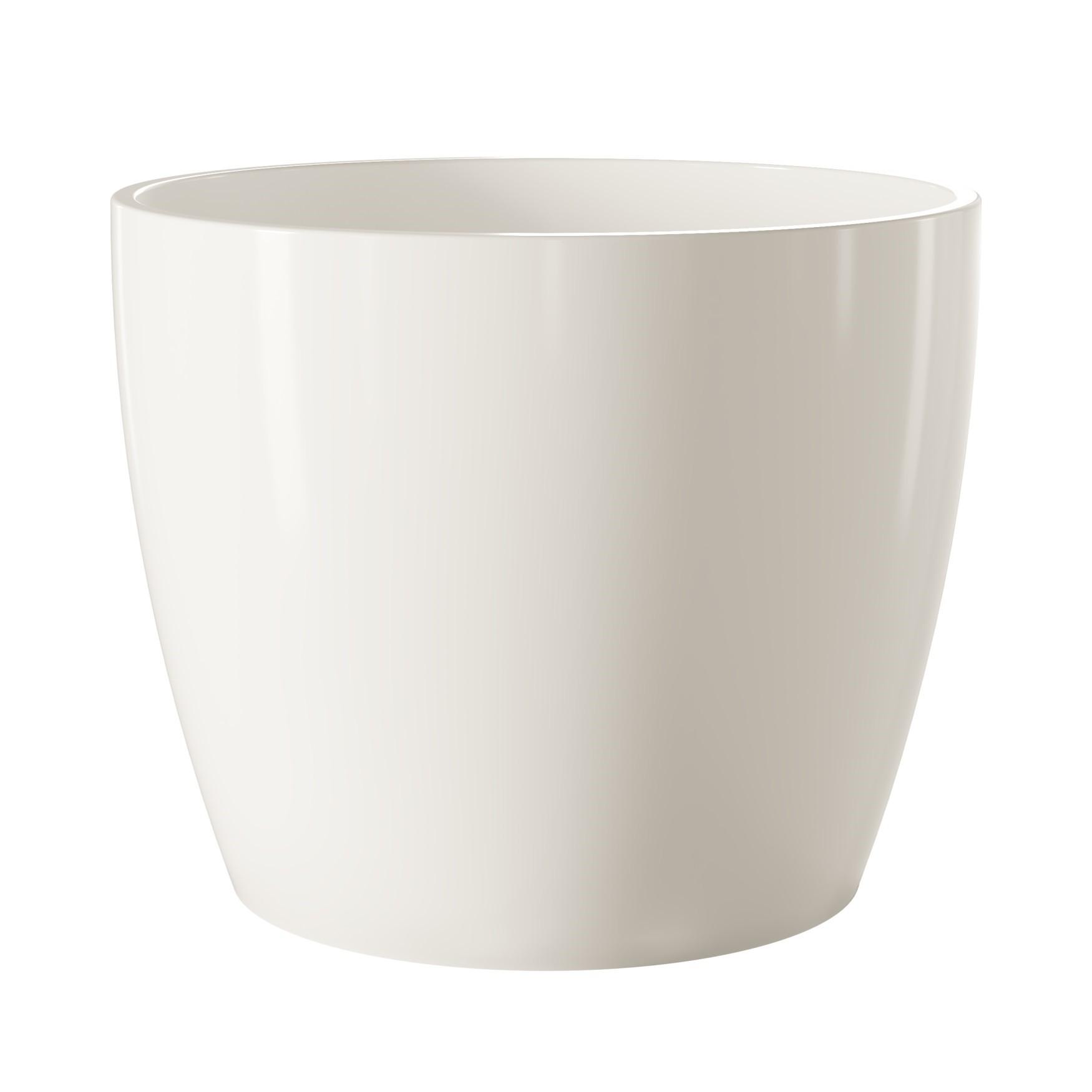 Vaso para Plantas Ceramica 15x17cm Munique Branco - Japi