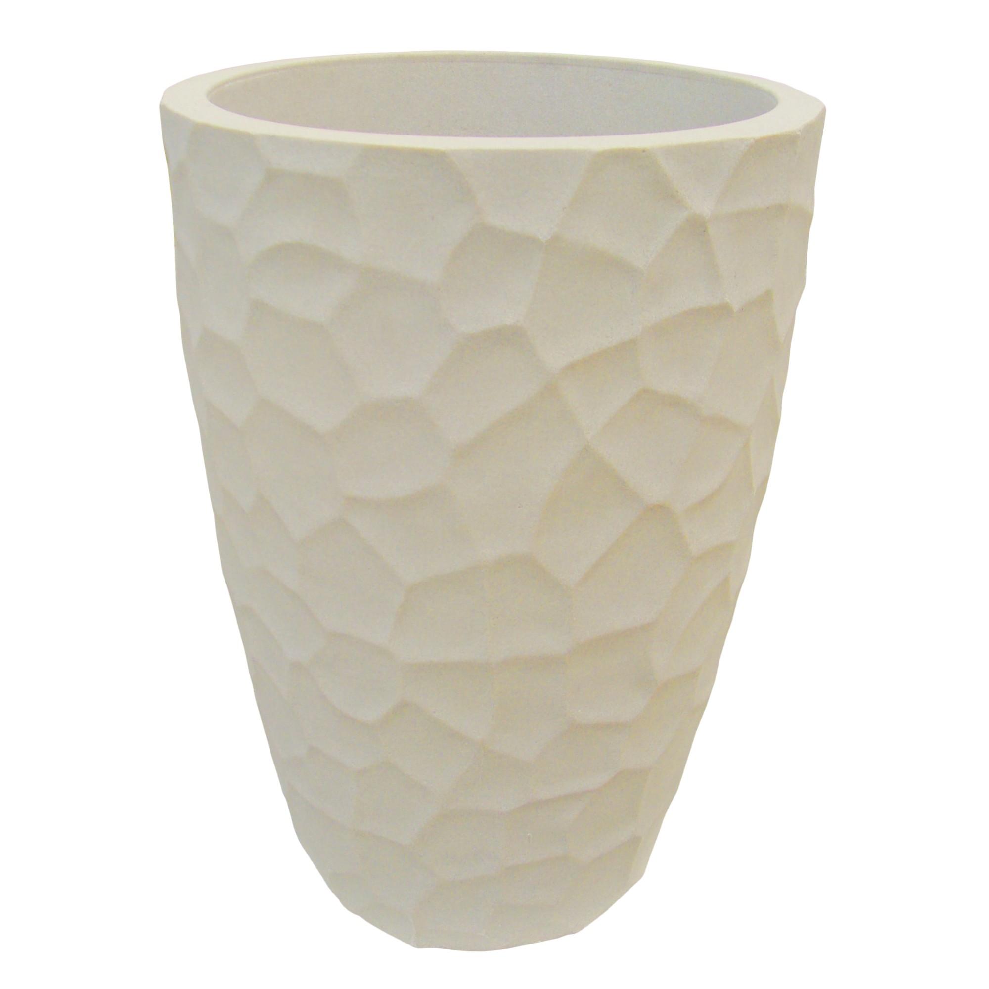 Vaso para Plantas Polietileno 59x41 cm Conico Cimento - Japi