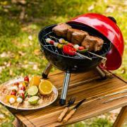 Churrasqueira Carvão 30 cm Vermelha - Bianchini