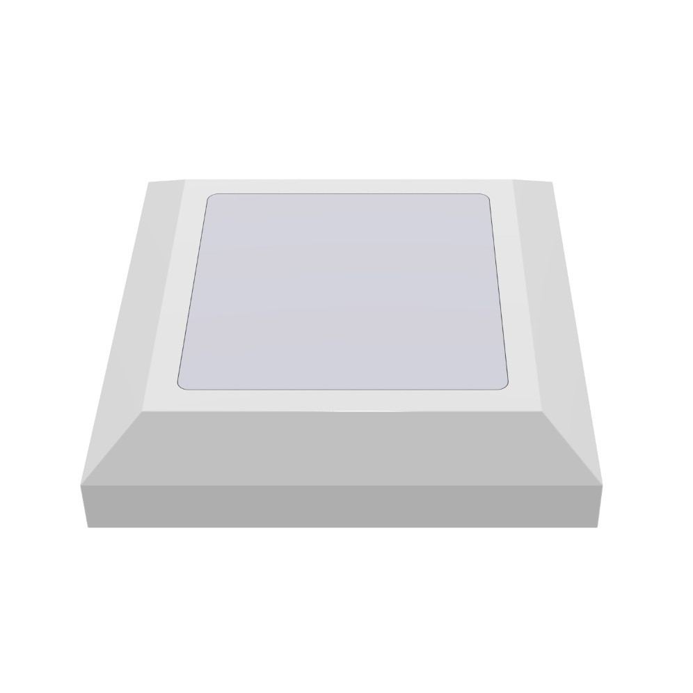 Luminaria de Sobrepor LED Balizador PLS 5W Branca IP65 - Ecoline