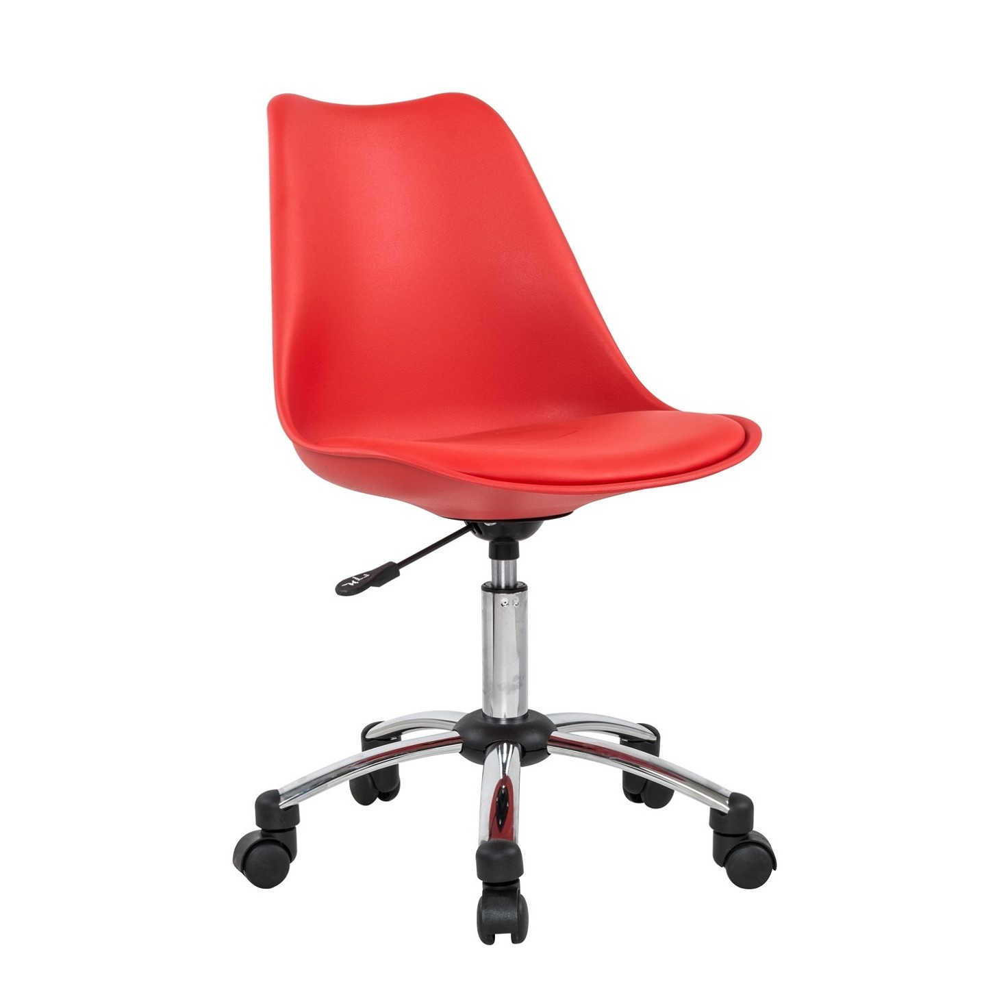 Cadeira Executivo sem Braco com Rodas Plastico Vermelho - Bianchini